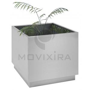 Floreira quadrada Inox