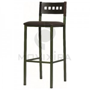Cadeira Alta de Bar Estofada
