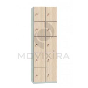 Armário Cacifo 10 portas sobrepostas