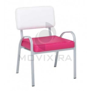 Cadeira Estofada Tubo Oval