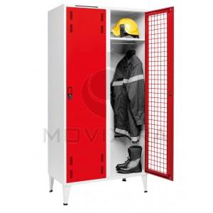 Vestiário Duplo Porta Rede para Bombeiros