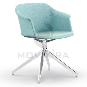 Cadeira Rotativa em Plástico Revestido Aurora