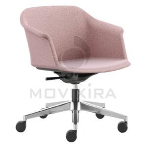 Cadeira Rodada em Plástico Revestido Aurora