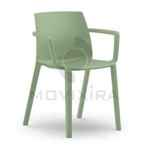 Cadeira em Plástico com Braços Dora
